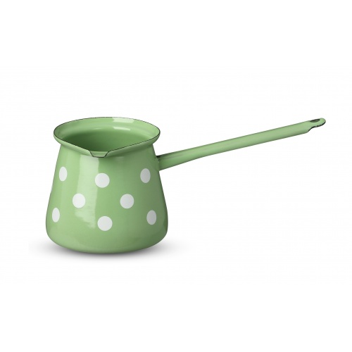 Green Coffee pot with dots 0,7l