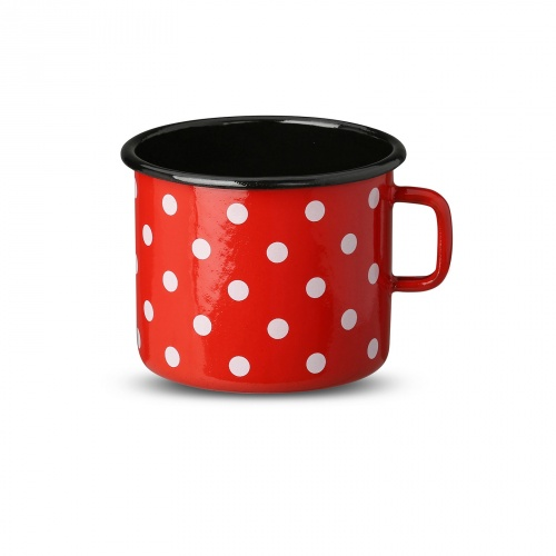 Red Cup with dots 0,37l