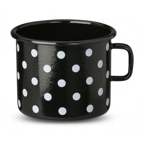 Black Cup with dots 0,6l